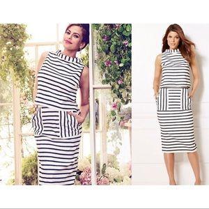 Eva Mendes NY & Co Striped Top & Skirt Set Size 0